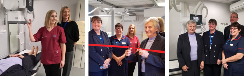 Opening the xray unit Deal Hospital