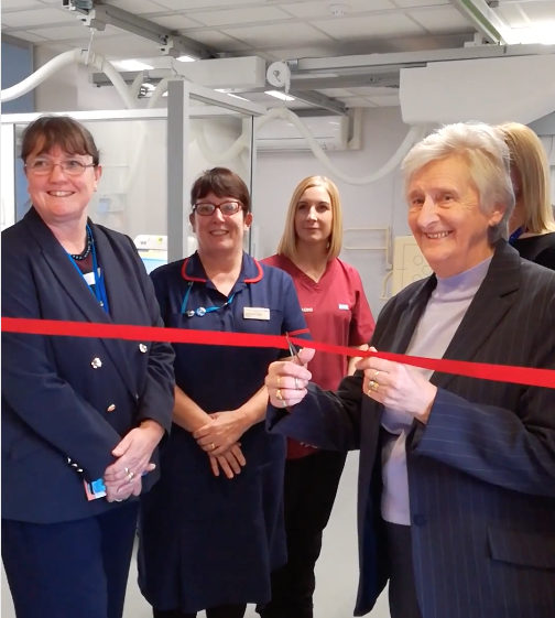 Deal Hospital - opening the xray unit
